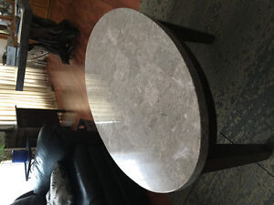 Marble top coffee table and end table 225.00