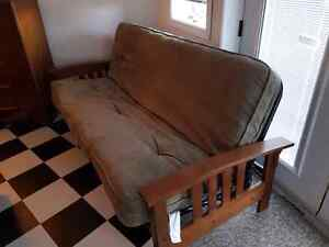 Wood and metal Futon with Mattress