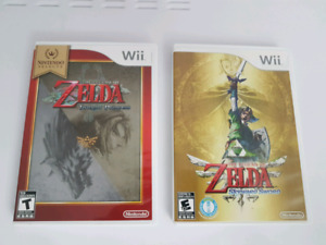 ZELDA games for Wii complete in box .