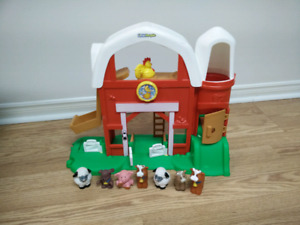 Little people farm with animals