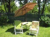 Parasol avec 4 coussins