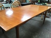 Huge solid wood dining table