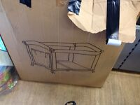 Baby cot with boxed
