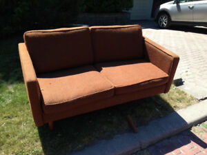 FREE loveseat, mid-century modern sofa / couch