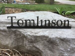 Surname Signs, Metal Name Signs, Custom Metal Art, Metal Décor