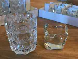 Glass votive/tea light holders set of 24 (Ikea)