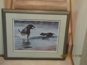Framed Print - Ducks Unlimited - Black Labs
