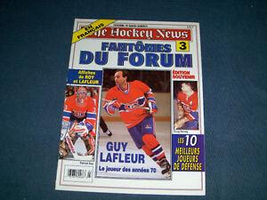 FANTOMES DU FORUM NO. 3-THE HOCKEY NEWS-GUY LAFLEUR-DOUG HARVEY+
