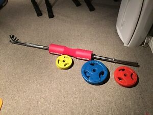 Barbell and weight set