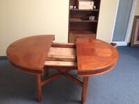 Round table with secret compartment