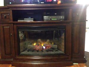 Entertainment Unit indoor fireplace