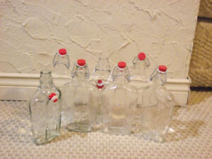 Clear self sealing 500 ml bottles