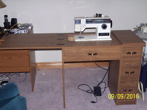 sewng machine with cabinet