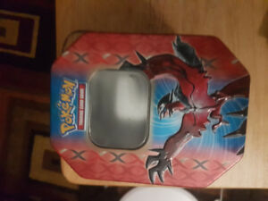 Pokemon cards and tin