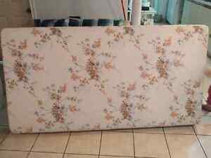 Single box spring and bed head & queen box spring