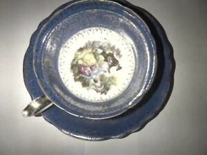 Hand Painted Cup & Saucer Made in Occupied Japan