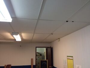 T-bar ceiling with panels.  Prince George British Columbia image 2