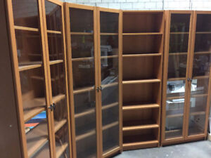 Glass Bookcase and Shelving Units