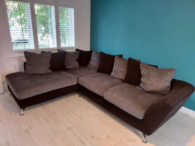 Sofology Corner Sofa - Grey & Black