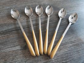 Amefa Ecat latte/sundae/ice cream spoons in gold