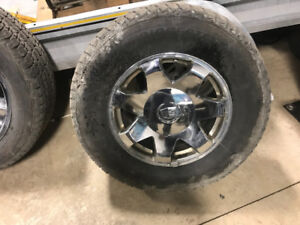 Bridgestone  Blizzaks 17s on rims, get ready for winter.