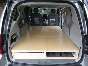Camping Bed Insert with storage under for Dodge Grand Caravan