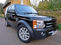 2008 LAND ROVER DISCOVERY 3 2.7 TDV6 AUTO XS. HSE EXTRAS. 6 SPEED MANUAL
