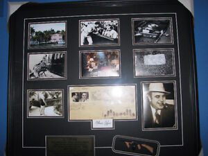 Al Capone framed and matted display looks amazing