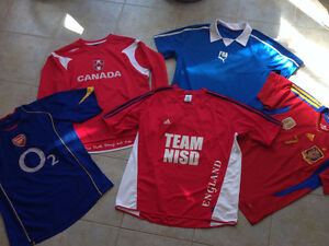 Five Soccer Jerseys