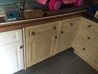 Old kitchen units
