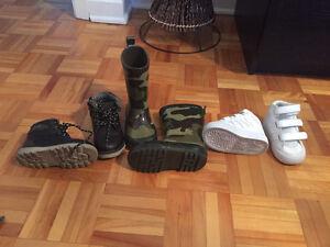 Bottines, souliers et bottes de pluie pour garçon
