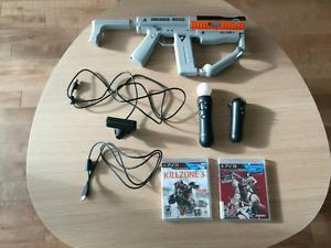 PS3 move avec camera et les 2 manette. Arme socom 4 et2 jeux