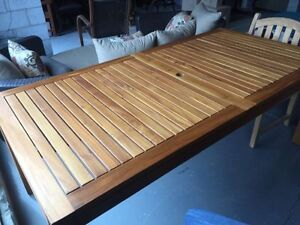 Beautiful brand new solid teak outdoor table