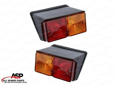Rear Flasher Lamp Light Set Lhrh For Ford Case Ih Tractors With 12v Bulbs