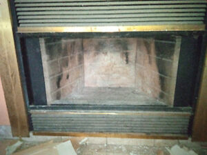 FREE wood fireplace and exhaust chimney