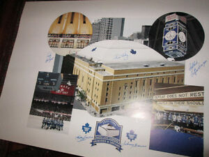 """Maple Leaf Gardens Multi Signed Lithograph 30"""" x 20"""""""