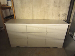 White Dresser with 9 drawers
