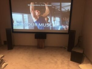 """Full Home Theater System - 106"""" screen with 7.1 surround"""