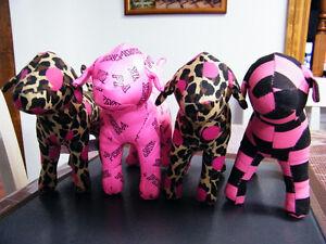 Victoria Secret pink dog toyset of 4 London Ontario image 1