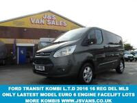 2016 16 FORD TRANSIT CUSTOM NEW MODEL EURO 6 LASTEST ENGINE FACELIFT LIMITED 130