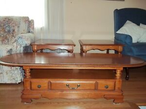 Rock Maple Coffee Table and 2 End Tables