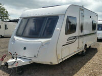 Bessacarr Cameo 540. 4 Berth Fixed Bed, Includes Motormover