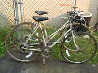 Two Vintage Road Bikes