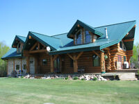 Custom Log Home with 2 garages