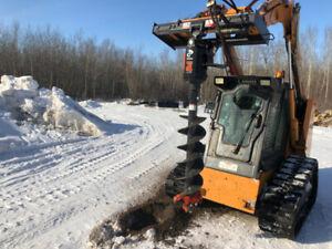 Skid steer auger drives