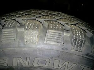 4 SNOW TIRES ON RIMS Peterborough Peterborough Area image 1