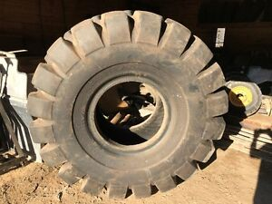 """Used """"GENERAL"""" heavy equipment tire"""