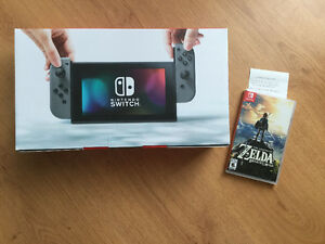 Switch grise + Zelda Breath of Wild le tout neuf-facture-650$