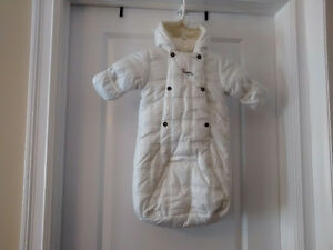 Baby Mexx White Bunting Bag - Size 3 to 6 Months