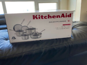 Brand New Kitchen Aid Stainless Steel Cookware